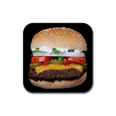Abstract Barbeque Bbq Beauty Beef Rubber Square Coaster (4 Pack)