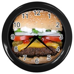 Abstract Barbeque Bbq Beauty Beef Wall Clocks (black)