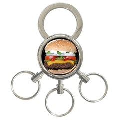 Abstract Barbeque Bbq Beauty Beef 3 Ring Key Chains