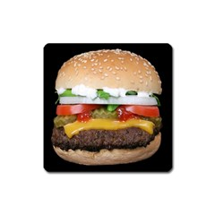 Abstract Barbeque Bbq Beauty Beef Square Magnet