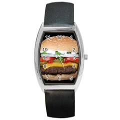 Abstract Barbeque Bbq Beauty Beef Barrel Style Metal Watch