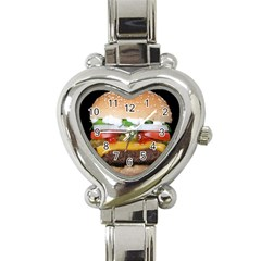 Abstract Barbeque Bbq Beauty Beef Heart Italian Charm Watch