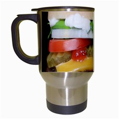 Abstract Barbeque Bbq Beauty Beef Travel Mugs (white)