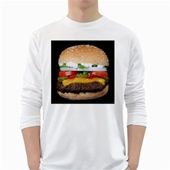 Abstract Barbeque Bbq Beauty Beef White Long Sleeve T-Shirts
