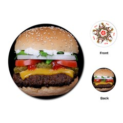 Abstract Barbeque Bbq Beauty Beef Playing Cards (Round)