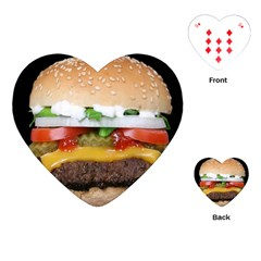 Abstract Barbeque Bbq Beauty Beef Playing Cards (heart)