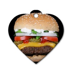 Abstract Barbeque Bbq Beauty Beef Dog Tag Heart (one Side)