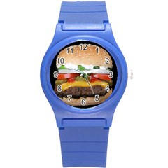 Abstract Barbeque Bbq Beauty Beef Round Plastic Sport Watch (S)