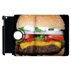 Abstract Barbeque Bbq Beauty Beef Apple iPad 3/4 Flip 360 Case