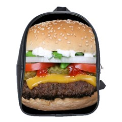 Abstract Barbeque Bbq Beauty Beef School Bags (XL)