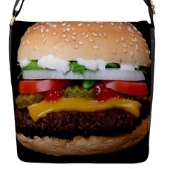 Abstract Barbeque Bbq Beauty Beef Flap Messenger Bag (S)