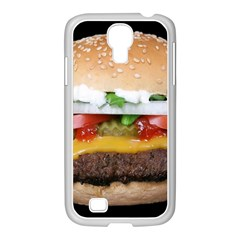 Abstract Barbeque Bbq Beauty Beef Samsung GALAXY S4 I9500/ I9505 Case (White)