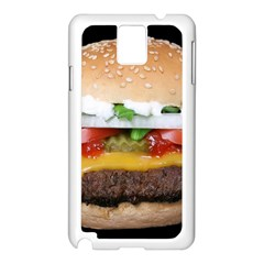 Abstract Barbeque Bbq Beauty Beef Samsung Galaxy Note 3 N9005 Case (White)