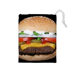Abstract Barbeque Bbq Beauty Beef Drawstring Pouches (Medium)