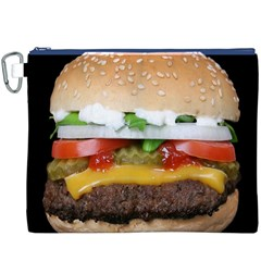 Abstract Barbeque Bbq Beauty Beef Canvas Cosmetic Bag (xxxl)