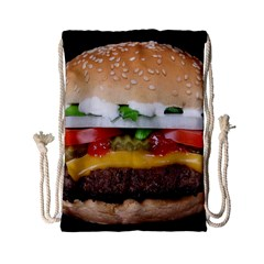 Abstract Barbeque Bbq Beauty Beef Drawstring Bag (small)