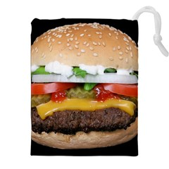 Abstract Barbeque Bbq Beauty Beef Drawstring Pouches (XXL)
