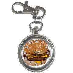 Cheeseburger On Sesame Seed Bun Key Chain Watches