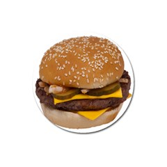 Cheeseburger On Sesame Seed Bun Magnet 3  (round)