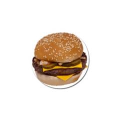 Cheeseburger On Sesame Seed Bun Golf Ball Marker (4 Pack)