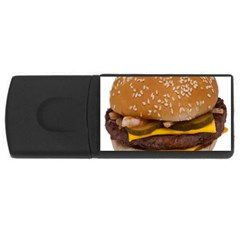 Cheeseburger On Sesame Seed Bun Usb Flash Drive Rectangular (4 Gb)