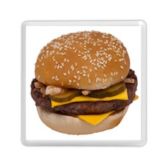 Cheeseburger On Sesame Seed Bun Memory Card Reader (square)