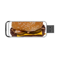 Cheeseburger On Sesame Seed Bun Portable USB Flash (Two Sides)