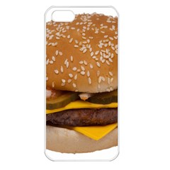 Cheeseburger On Sesame Seed Bun Apple iPhone 5 Seamless Case (White)