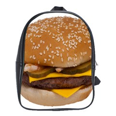 Cheeseburger On Sesame Seed Bun School Bags (XL)