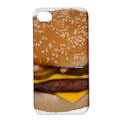 Cheeseburger On Sesame Seed Bun Apple iPhone 4/4S Hardshell Case with Stand