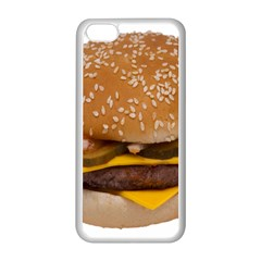 Cheeseburger On Sesame Seed Bun Apple iPhone 5C Seamless Case (White)