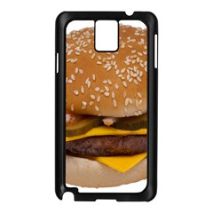 Cheeseburger On Sesame Seed Bun Samsung Galaxy Note 3 N9005 Case (Black)
