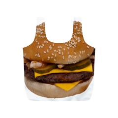 Cheeseburger On Sesame Seed Bun Full Print Recycle Bags (S)
