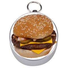Cheeseburger On Sesame Seed Bun Silver Compasses
