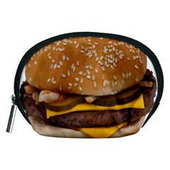 Cheeseburger On Sesame Seed Bun Accessory Pouches (Medium)