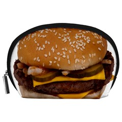 Cheeseburger On Sesame Seed Bun Accessory Pouches (Large)