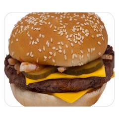 Cheeseburger On Sesame Seed Bun Double Sided Flano Blanket (small)