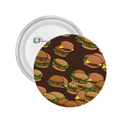 A Fun Cartoon Cheese Burger Tiling Pattern 2 25  Buttons