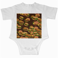 A Fun Cartoon Cheese Burger Tiling Pattern Infant Creepers