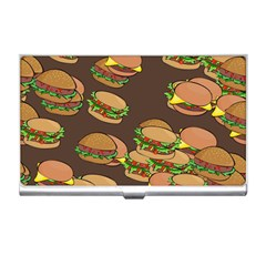 A Fun Cartoon Cheese Burger Tiling Pattern Business Card Holders