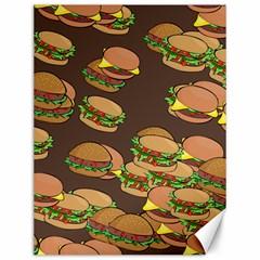 A Fun Cartoon Cheese Burger Tiling Pattern Canvas 12  X 16