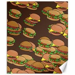 A Fun Cartoon Cheese Burger Tiling Pattern Canvas 20  X 24