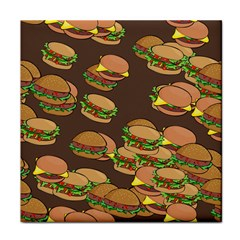A Fun Cartoon Cheese Burger Tiling Pattern Face Towel