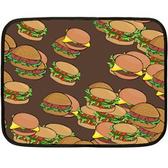 A Fun Cartoon Cheese Burger Tiling Pattern Double Sided Fleece Blanket (mini)