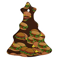 A Fun Cartoon Cheese Burger Tiling Pattern Ornament (christmas Tree)