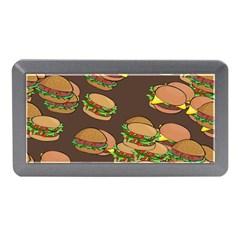 A Fun Cartoon Cheese Burger Tiling Pattern Memory Card Reader (Mini)