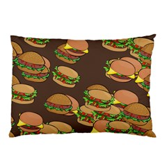 A Fun Cartoon Cheese Burger Tiling Pattern Pillow Case (two Sides)