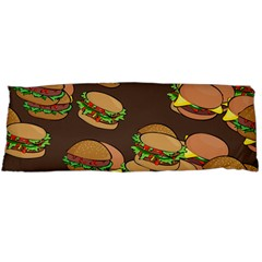 A Fun Cartoon Cheese Burger Tiling Pattern Body Pillow Case (Dakimakura)