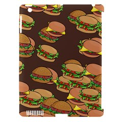 A Fun Cartoon Cheese Burger Tiling Pattern Apple iPad 3/4 Hardshell Case (Compatible with Smart Cover)