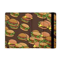 A Fun Cartoon Cheese Burger Tiling Pattern Apple iPad Mini Flip Case